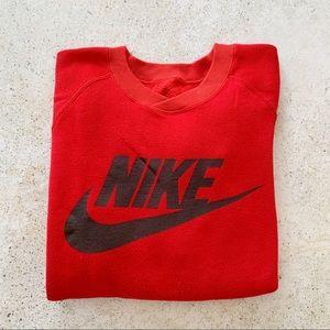 ❤️ VINTAGE NIKE Sweatshirt Red unisex size L